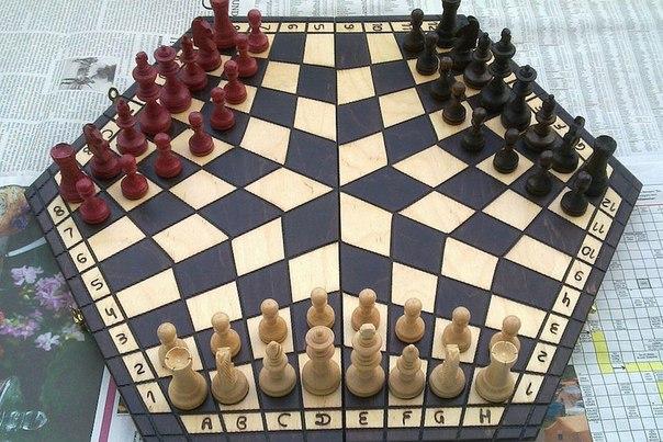 shahmaty na troih Шахматы на троих