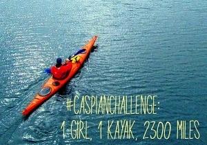 britanskaya turistka splavlyaetsya po volge na kayake v blagotvoritelnyh celyah Британская туристка сплавляется по Волге на каяке в благотворительных целях
