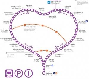 jeleznaya doroga v forme serdca soedinit aeroport helsinki i centr goroda Железная дорога в форме сердца соединит аэропорт Хельсинки и центр города