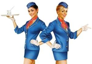 styuardessy ustroili pokaz mod v domodedovo Стюардессы устроили показ мод в Домодедово