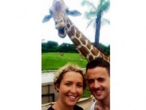 turisty iz irlandii prosnulis populyarnymi posle selfi so smeyushimsya jirafom Туристы из Ирландии проснулись популярными после селфи со смеющимся жирафом