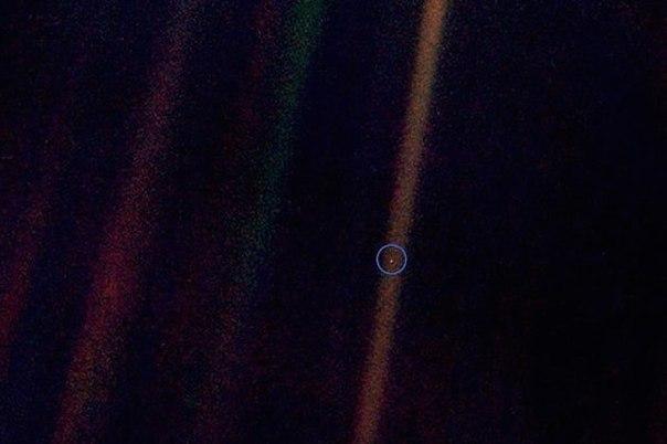 fotografiya zemli s rasstoyaniya 6 milliardov kilometrov Фотография Земли с расстояния 6 миллиардов километров