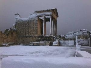 rimskoe nasledie tunisa pod snegom Римское наследие Туниса под снегом