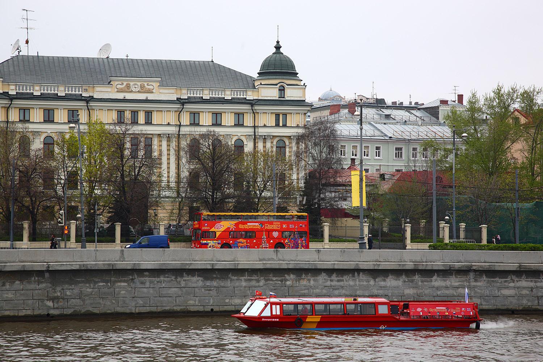 City Sightseeing zapustil v moskve rechnye avtobusy City Sightseeing запустил в Москве речные автобусы