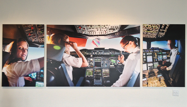 Lufthansa ustroila vystavku fotografii jenshin pilotov za rabotoi Lufthansa устроила выставку фотографий женщин пилотов за работой