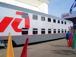 etim letom v rossii zapustyat pervyi dvuhetajnyi poezd Этим летом в России запустят первый двухэтажный поезд