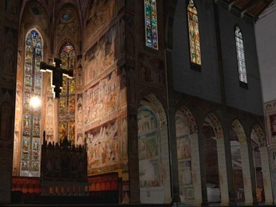 glavnaya kapella baziliki santa kroche vo florencii otkrylas posle restavracii Главная капелла базилики Санта Кроче во Флоренции открылась после реставрации
