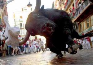 kak vyjit v bege ot bykov v pamplone Как выжить в беге от быков в Памплоне
