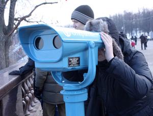 na vorobevyh gorah ustanovili turisticheskie binokli На Воробьевых горах установили туристические бинокли