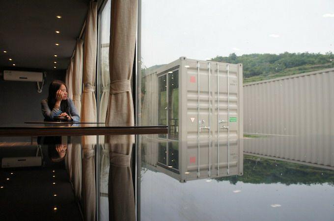 neobychnyi otel iz morskih konteinerov v kitae Необычный отель из морских контейнеров в Китае