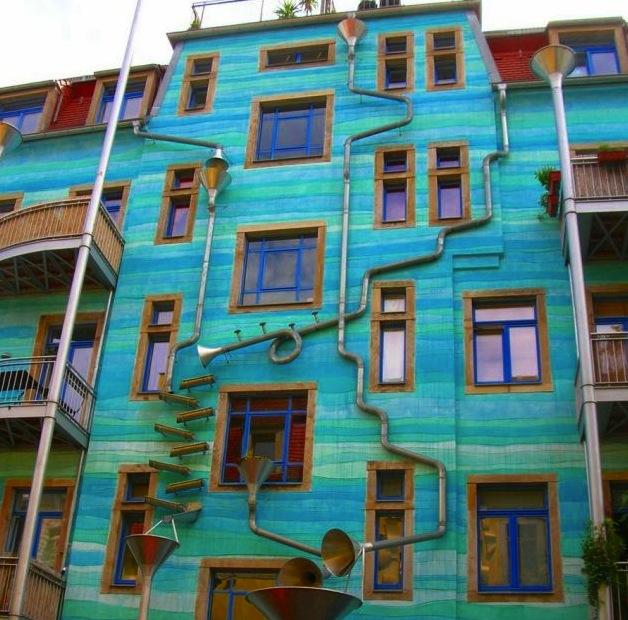 neobychnyi poyushii dom postroili v drezdene Необычный поющий дом построили в Дрездене