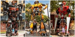 ogromnye roboty transformery navodnili podgoricu Огромные роботы трансформеры наводнили Подгорицу
