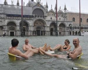pod vodoi okazalos tri chetverti venecii Под водой оказалось три четверти Венеции