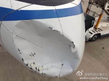 samolet Air China stolknulsya v vozduhe s neopoznannym obektom Самолет Air China столкнулся в воздухе с неопознанным объектом