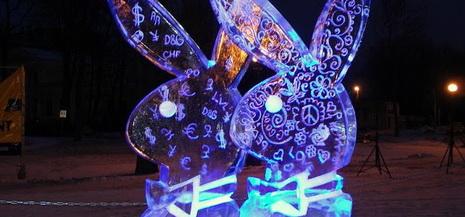 v latvii startoval mejdunarodnyi festival ledyanyh skulptur В Латвии стартовал международный фестиваль ледяных скульптур