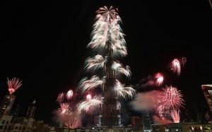 video rekordnogo novogodnego feierverka v dubae Видео рекордного новогоднего фейерверка в Дубае