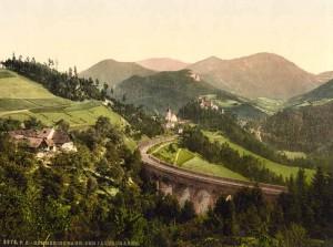 semmering jeleznaya doroga v konce XIX veka 300x223 Земмеринг   железная дорога и волшебная гора Австрии