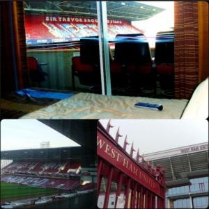 «vest hem yunaited otel» gostinica s vidom na futbolnoe pole «Вест Хэм Юнайтед Отель»: гостиница с видом на футбольное поле