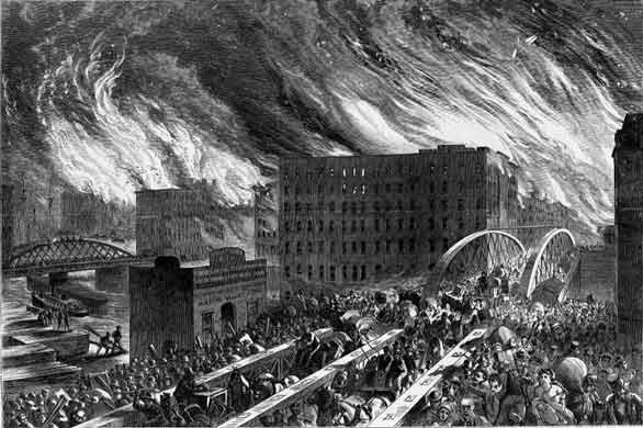 8 oktyabrya 1871 goda nachalsya velikii chikagskii pojar 8 октября 1871 года начался Великий чикагский пожар