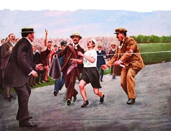 london 1908 finish dorado pietri Лондон 1908: Финиш Дорадо Пиетри