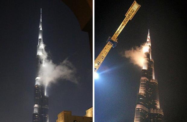 pojar v samom vysokom zdanii v mire okazalsya tumanom Пожар в самом высоком здании в мире оказался туманом