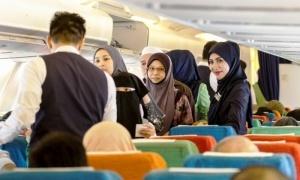 vypolnen pervyi v istorii halyalnyi reis Выполнен первый в истории халяльный рейс