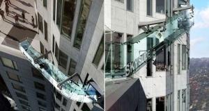 na kryshe neboskreba v los andjelese otkrylsya steklyannyi attrakcion На крыше небоскреба в Лос Анджелесе открылся стеклянный аттракцион