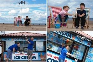 morojenoe na angliiskii plyaj teper dostavlyayut drony Мороженое на английский пляж теперь доставляют дроны
