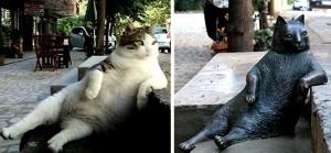 pamyatnik zadumchivomu kotu ukrali v stambule Памятник задумчивому коту украли в Стамбуле