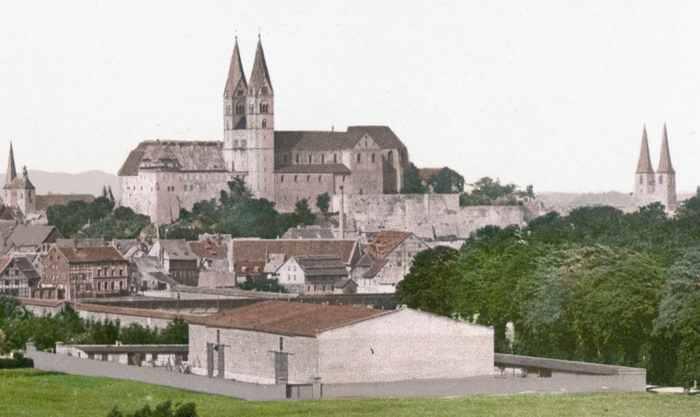 quedlinburg v 1900 godu Древний Кведлинбург
