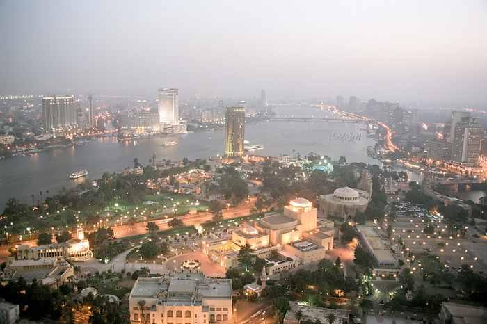 Каир в октябре 2004 года вид с каирской